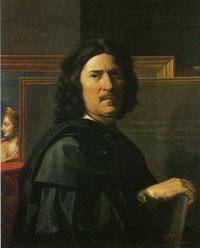 Fig. 3 Autoritratto Poussin con la Pittura nello sfondo