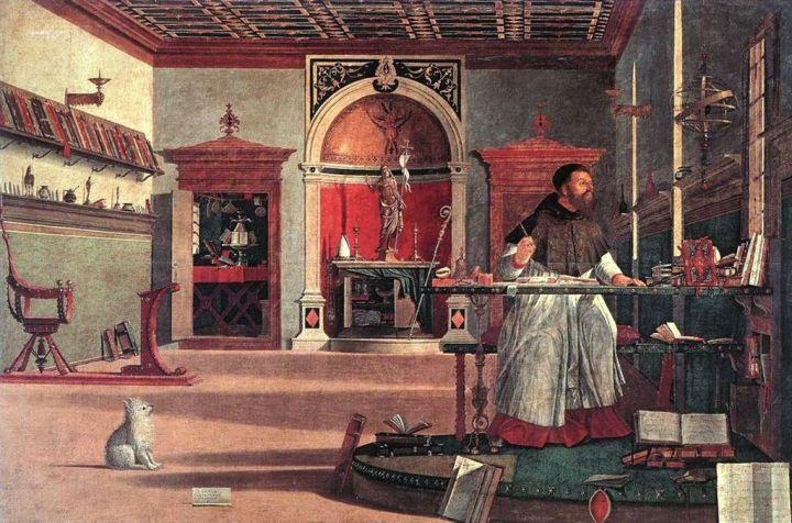 Vittore Carpaccio, Venezia (1502), Visione di Sant'Agostino, Scuola di San Giorgio degli Schiavoni