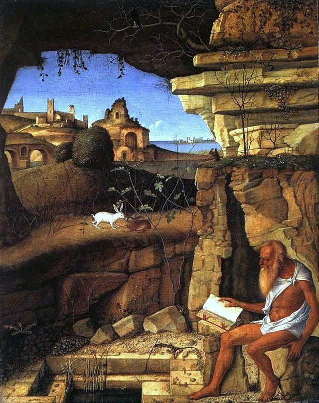 Vincenzo Bellini, San Girolamo che legge in campagna, (1505), National Gallery di Washington