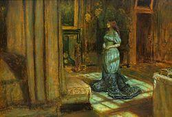 La Vigilia di Sant'Agnese, Millais (da wiki)